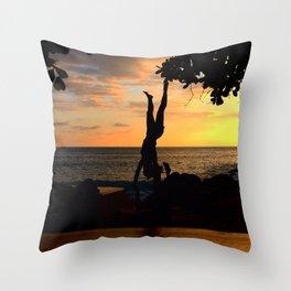 The Falling Tree Throw Pillow