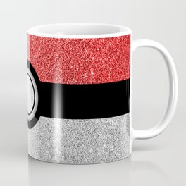 Sparkly red and silver sparkles poke ball Coffee Mug