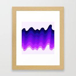 Retro Ripple in Purples Framed Art Print