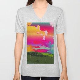 Psychedelic Sky Unisex V-Neck
