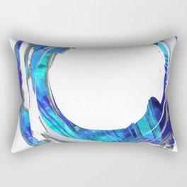 Blue And White Abstract Art - Swirling 1 - Sharon Cummings Rectangular Pillow