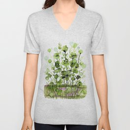 Floral Charm No.1I by Kathy Morton Stanion Unisex V-Neck