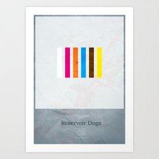 Reservoir Dogs - minimal poster Art Print