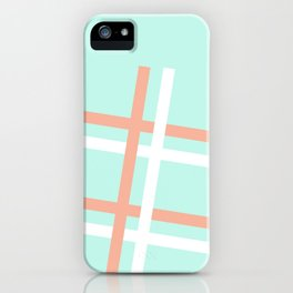 Turquoise & Coral (4) iPhone Case