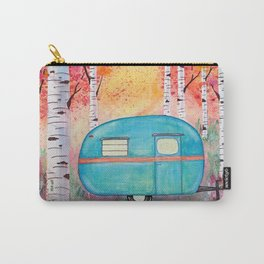 Vintage Camper Beach Towel Among the Birch Carry-All Pouch