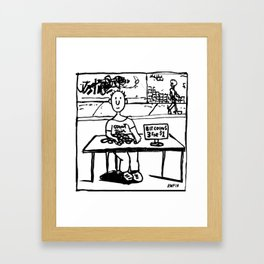 """Ben sells Bitcoins at the street fair"" Framed Art Print"