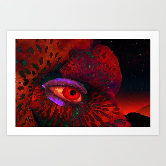 Contemplation of an alien nature Art Print