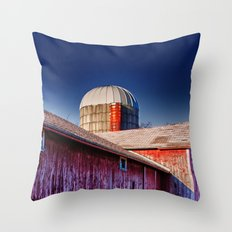 Abandoned Barn in Rural Wisconsin Throw Pillow