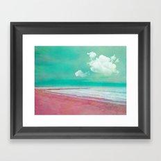 SILENT BEACH Framed Art Print
