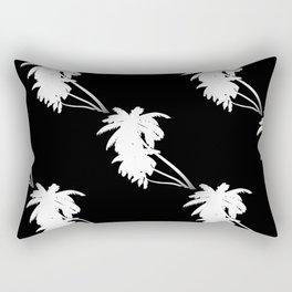 Palm Tree Pattern Black and White Rectangular Pillow