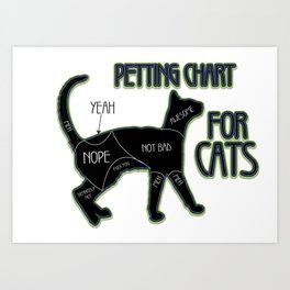 petting charf - Funny Cat Saying Art Print