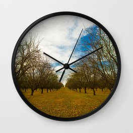 Orange Groves Wall Clock
