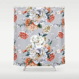 Blooming Flowers I Shower Curtain