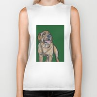 harry Biker Tanks featuring Harry by Pawblo Picasso