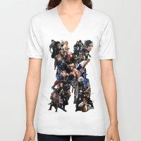 the xx V-neck T-shirts featuring XX by jasonriv37