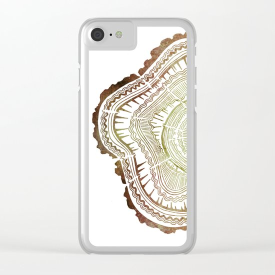 Tree Rings – Watercolor Ombre Clear iPhone Case