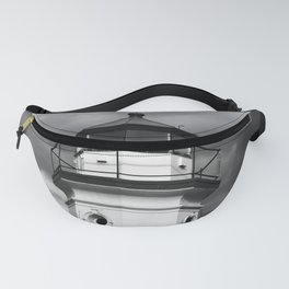 Cheboygan Light in Black and White Fanny Pack