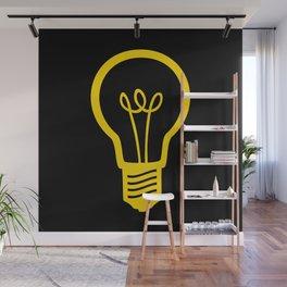 Yellow Lightbulb Wall Mural