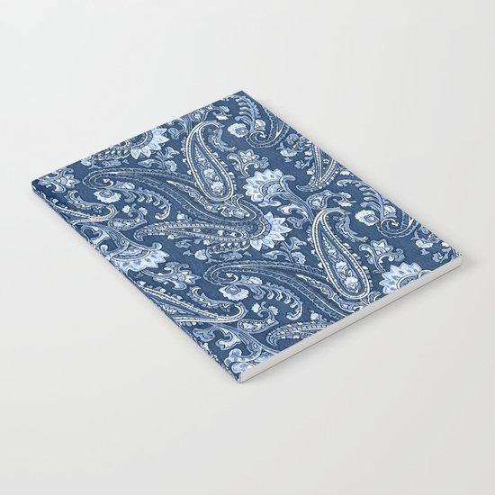 Blue indigo paisley Notebook