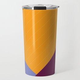 Geometric Crossing Travel Mug