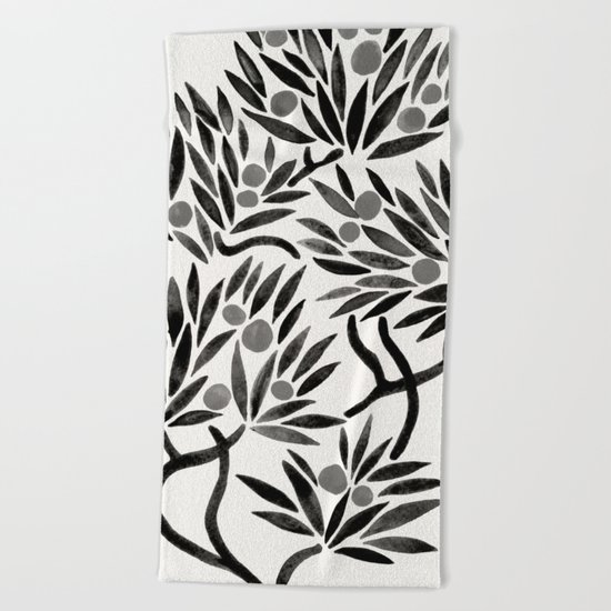 Bonsai Fruit Tree – Black Palette Beach Towel