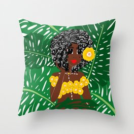 Tropical Gal Throw Pillow
