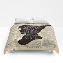 Peter Pan Over Vintage Dictionary Page - That Place Comforters