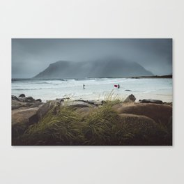 Surfing in the Arctic Canvas Print