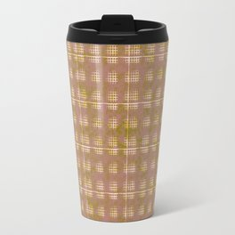 Squares in Olde rose and green Travel Mug
