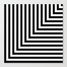 Black and White L Stripes // www.pencilmeinstationery.com Canvas Print