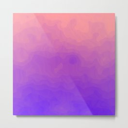 Pink and Purple Ombre - Swirly Metal Print