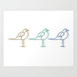 Three of a Kind Art Print