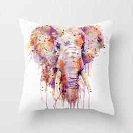 Elephant Head Throw Pillow