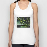 northern lights Tank Tops featuring Northern Lights  by Joey Bareither