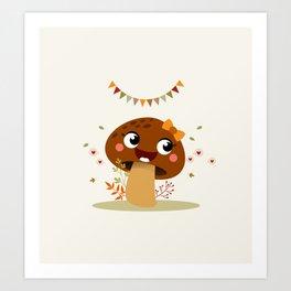 Champignon marron Art Print