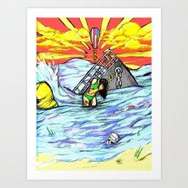Washing Away Art Print