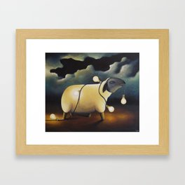 Party Sheep Framed Art Print