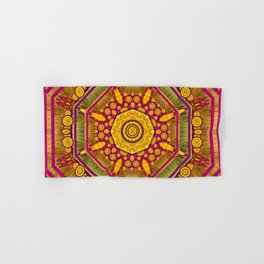 Sunshine Mandala and other golden planets Hand & Bath Towel