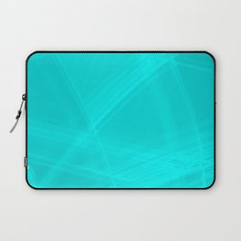 Shaded stone facets with light blue diagonal lines of intersecting glowing bright energy waves. Laptop Sleeve