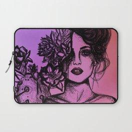 Sunset Succulent Babe | Sunset | Succulents | Cacti | Cactus | Succulent | Portrait | Pink | Orange Laptop Sleeve