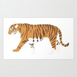 Tiger Trendy Flat Graphic Design Art Print