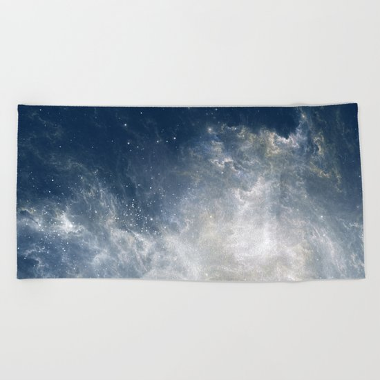 Ciel au Lait Beach Towel