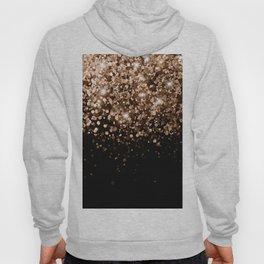 Dark Night Brown Black Glitter #1 (Faux Glitter) #shiny #decor #art #society6 Hoody