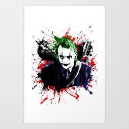 The Crow / The Joker Mashup Red Art Print
