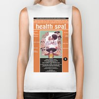 health Biker Tanks featuring Junxploitation Poster (Health Spa) by Hobo&Arrow