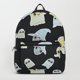 Super Cute Hand Painted Kawaii Halloween Ghosts Backpack
