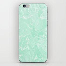 Pastel Mint Green Marble Minimalist iPhone Skin