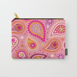 Colorful summer paisleys Carry-All Pouch