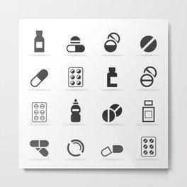 Tablet an icon Metal Print