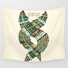 Soulmate Feathers Wall Tapestry
